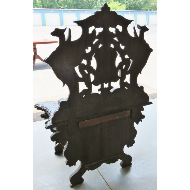 Italian 19th C. Horner Style Figural Carved Bench - Image 9 of 9