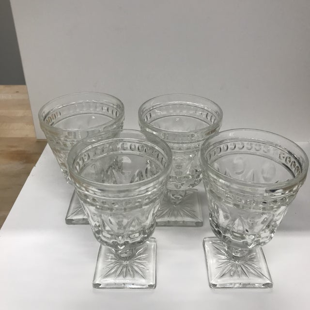 Indiana Glass Company Vintage Indiana Glass Colony Park Lane Wine or Water Glasses - Set of 4 For Sale - Image 4 of 8