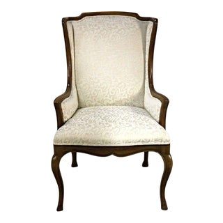 Louis XV Style French Provincial Upholstered Bergere Chair For Sale
