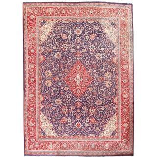 "Vintage Persian Sarouk Handwoven Carpet 9'6"" X 13'2"""