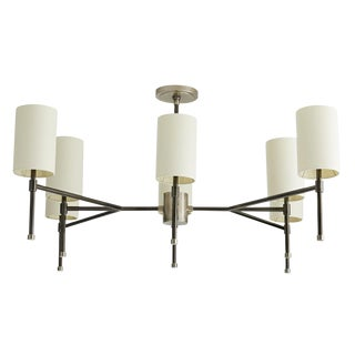 Arteriors Modern Vintage Silver Remington Chandelier For Sale