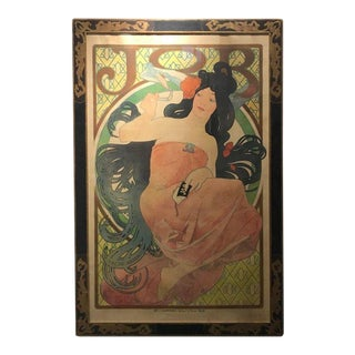 Art Nouveau Alphonse Mucha Original Job Poster, 1898 For Sale