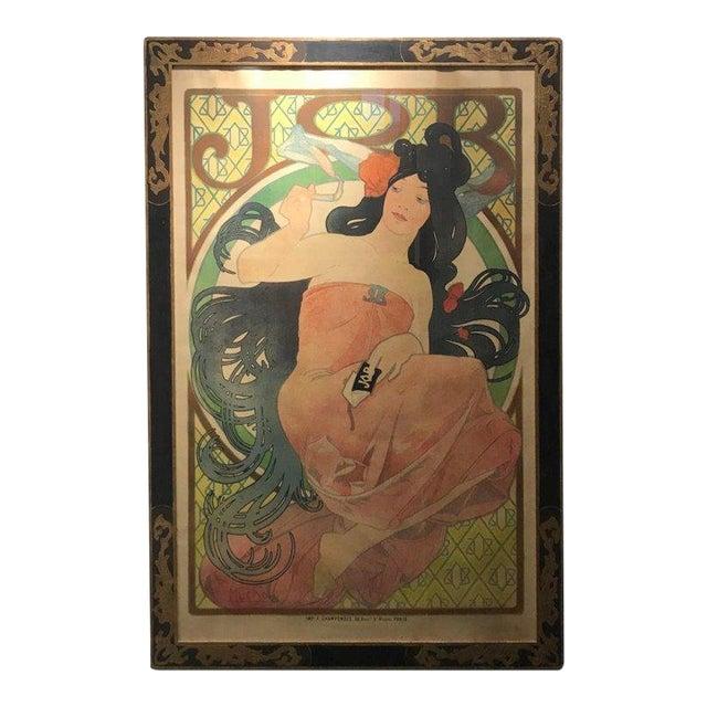 Art Nouveau Alphonse Mucha Original Job Poster, 1898 For Sale