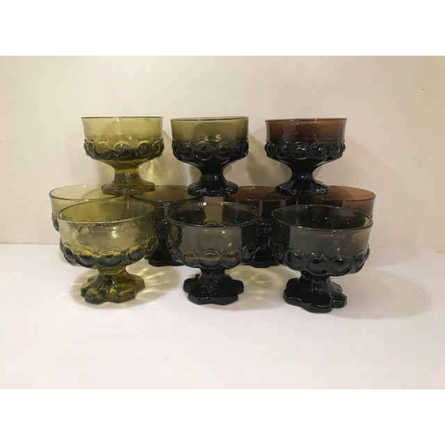1960s Mid-Century Modern Tiffian Franciscan Madeira Multi Color Glass Dessert Cups - Set of 9 For Sale In Sacramento - Image 6 of 6