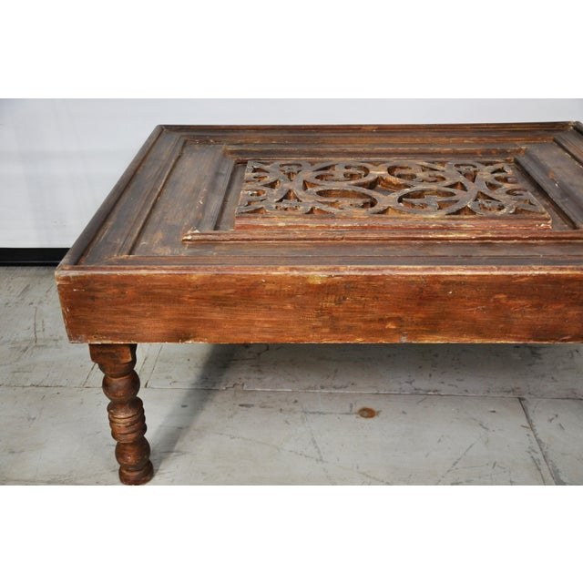 Vintage Egyptian Carved Wood Coffee Table Chairish