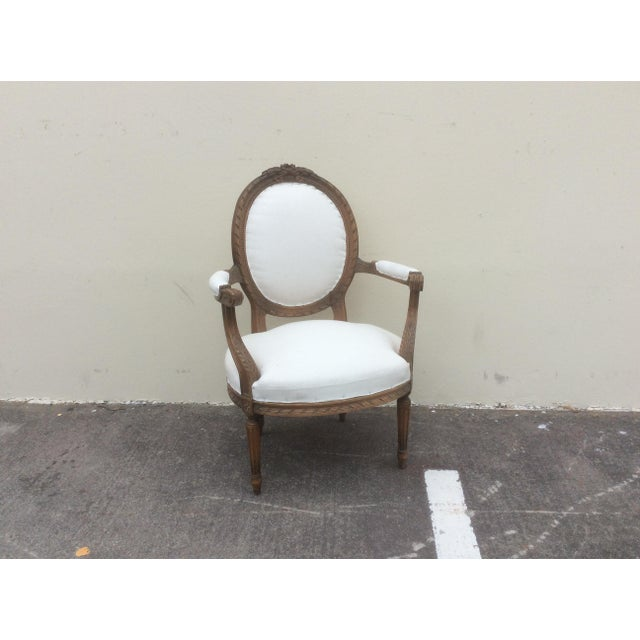 French Arm Chair With Rounded Back For Sale - Image 10 of 10