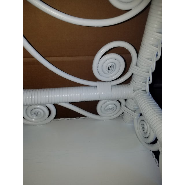 Victorian Victorian Style Large White Wicker Etagere For Sale - Image 3 of 6