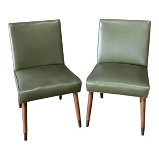 Vintage Mid Century Slipper Lounge Club Chairs- A Pair For Sale