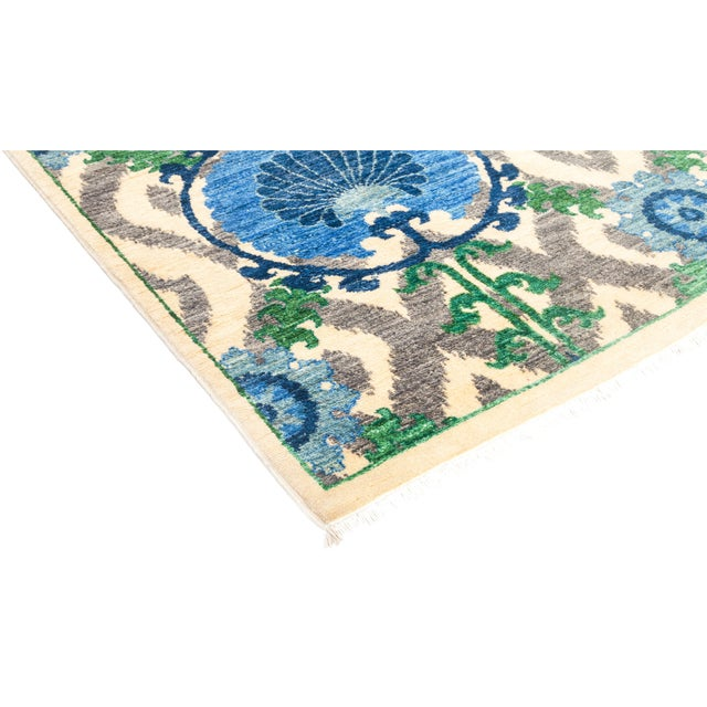 Inspired by embroidered Suzani textiles from Uzbekistan, Solo Rugs Suzani Collection features floral motifs in modern...