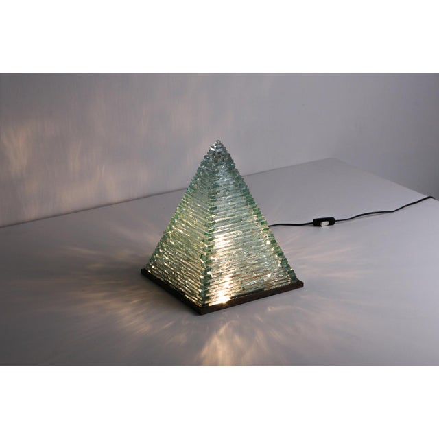 Pyramid Glass Lamps by Pia Manu For Sale - Image 10 of 10
