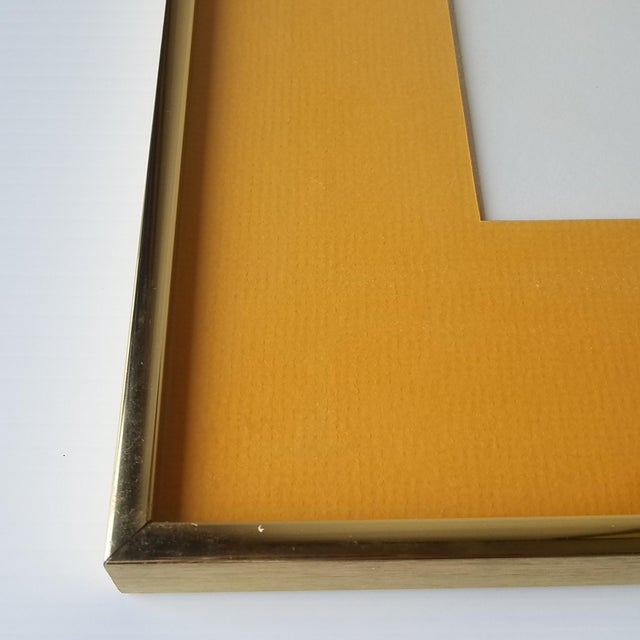 """1960s """"Bees and Hexagons"""" Minimalist Serigraph, Framed For Sale - Image 9 of 10"""