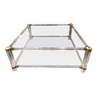 1960s Mid-Century Modern Charles Hollis Jones Lucite Coffee Table For Sale