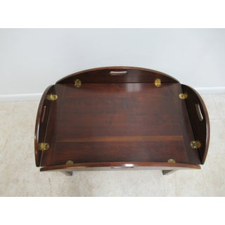 Vintage Campaign Cherry Butlers Tray Top Coffee Table Preview