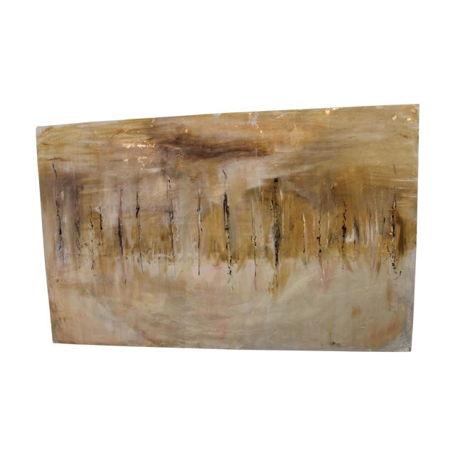 One-Of-A-Kind Mixed Media Abstract Work - Image 1 of 5