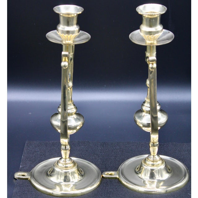 Brass Ship Gimbal Candlestick Wall Sconces - a Pair For Sale - Image 9 of 12