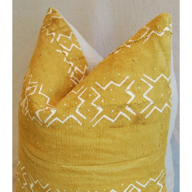 Handwoven Gold & Cream Tribal Feather & Down Pillow - Image 4 of 5