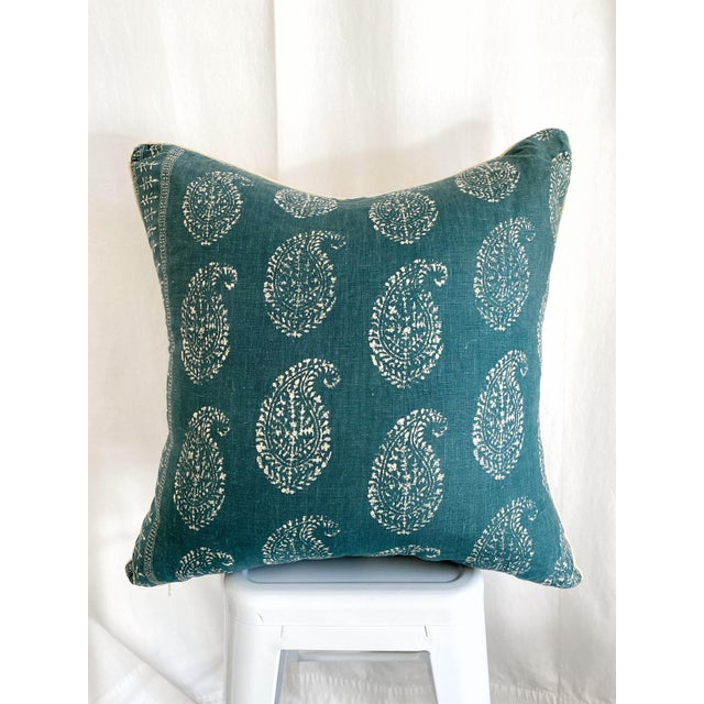 Peter Dunham Fabric Pillow With Natural Linen Backing For Sale In Los Angeles - Image 6 of 6