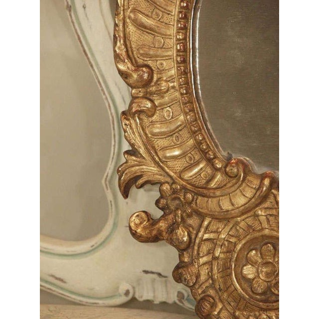 Wood Pair of Italian Gilt Mirrors For Sale - Image 7 of 8