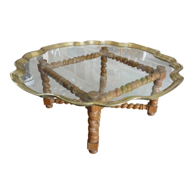 Baker Pie Crust Tray Top Coffee Table - Image 1 of 11