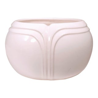 20th Century Art Deco White Loucarte Portugal Planter Bowl For Sale