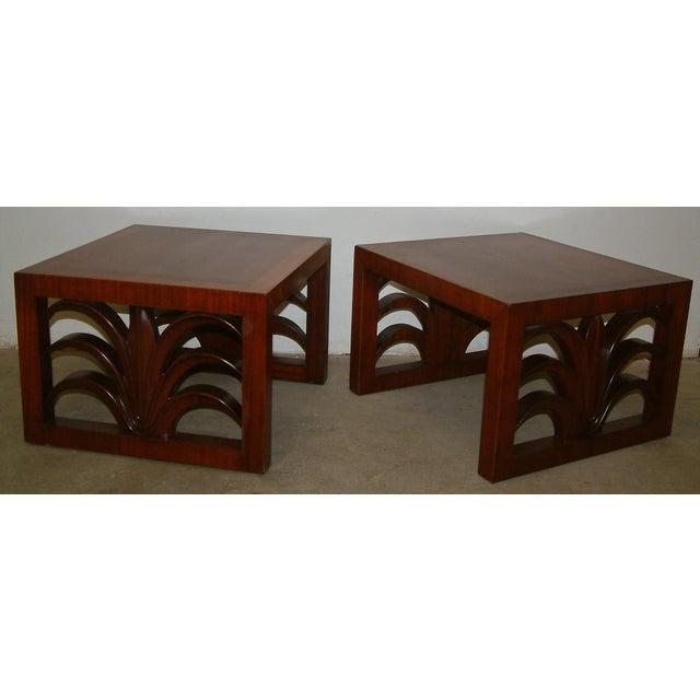 Veneer Circa 1950 United States Custom T. H. Robsjohn Gibbings End Tables - Pair For Sale - Image 7 of 7