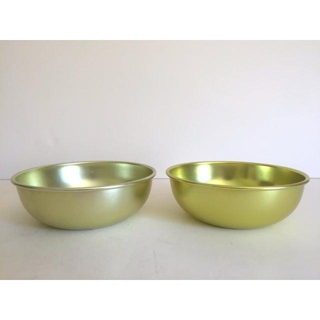 Metal Vintage Mid Century Modern Anodized Spun Aluminum Multicolor Snack Dessert Bowls - Set of 6 For Sale - Image 7 of 13