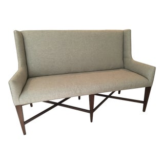 Transitional Pearson Mahogany Dining Banquette For Sale