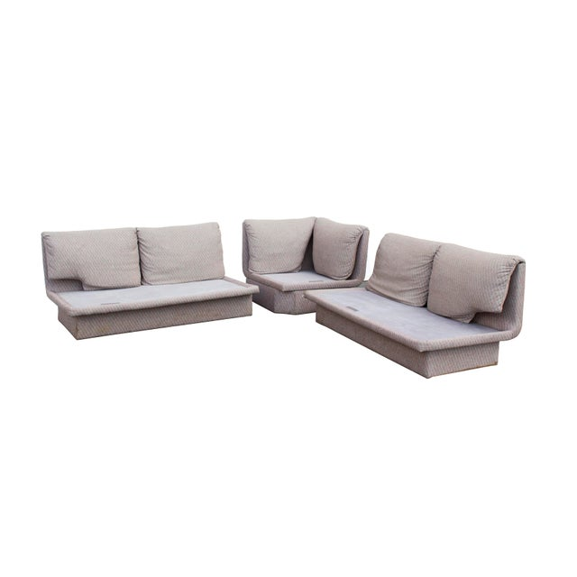 Textile Postmodern Three Piece Sectional Sofa by Bernhardt - Set of 3 For Sale - Image 7 of 13