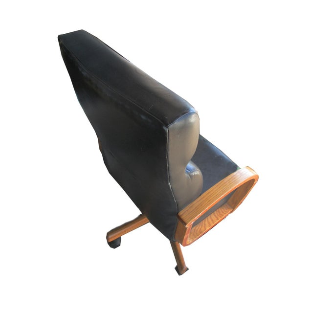 Black Leather Executive Office Chair - Image 3 of 5