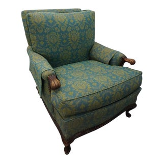 Antique Turquoise Arm Chair