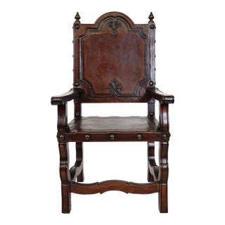 Villa De Romani Palma Spanish Revival Armchair For Sale