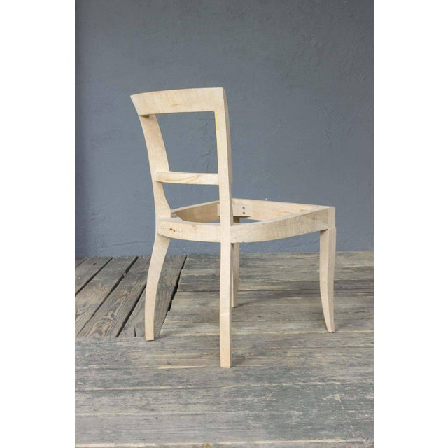 Art Deco Style Side Chair Frame - Image 5 of 11