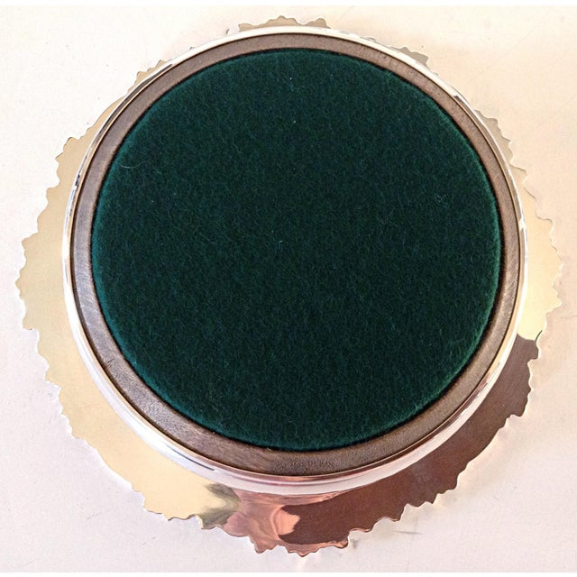 English Sterling Wine Coasters - Pair For Sale - Image 4 of 5