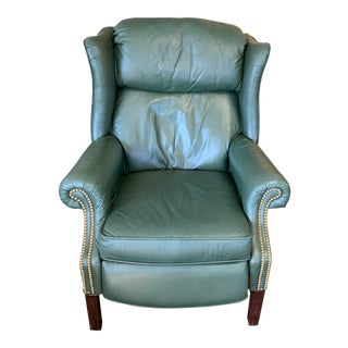 Late 20th Century Vintage Leather Reclining Armchair For Sale