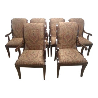 Henredon Furniture Osterley Manor Mahogany Dining Chairs-Set of 6 For Sale