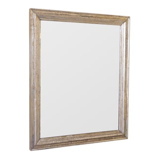 19th Century Silverleaf Fortuny Stenciled Wall Mirror For Sale