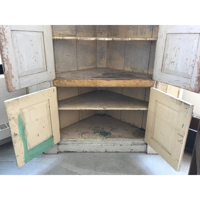 Large Scale Painted Corner Cabinet For Sale - Image 4 of 8