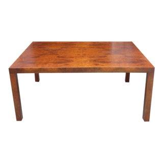 Midcentury Milo Baughman Burl Wood Coffee Table