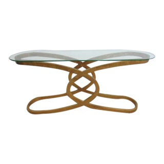 Jonathan Charles Gold Gilt X Base Regency Foyer Table Server
