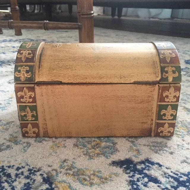 Antique Italian Florentine Gold Music Box Jewelry Box - Image 10 of 11