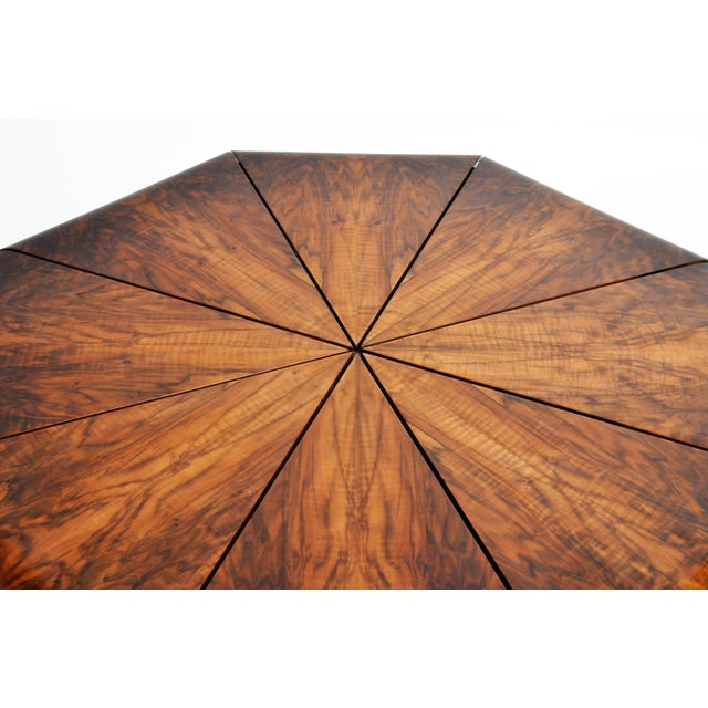 1960s Hungarian Walnut Octagonal Coffee Table For Sale - Image 5 of 13