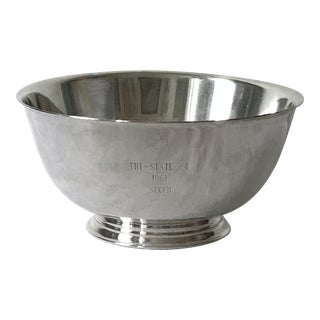 "Vintage Silver-Plated Engraved Presentation ""Revere"" Bowl For Sale"