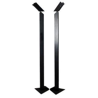 1980s Angular Black Floor Lamps for Pollux Skipper For Sale