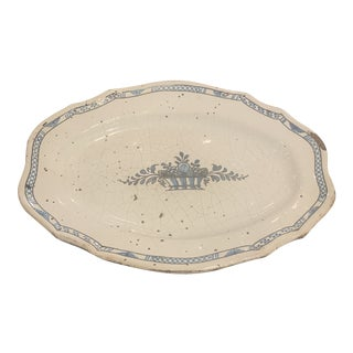 Antique French Moustier Platter For Sale