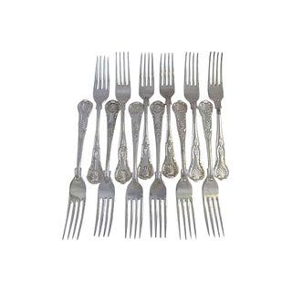 Oversize English Dinner Forks - Set of 12 For Sale