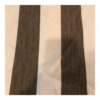 Windsor Smith Stripes Charcoal & Cream Fabric