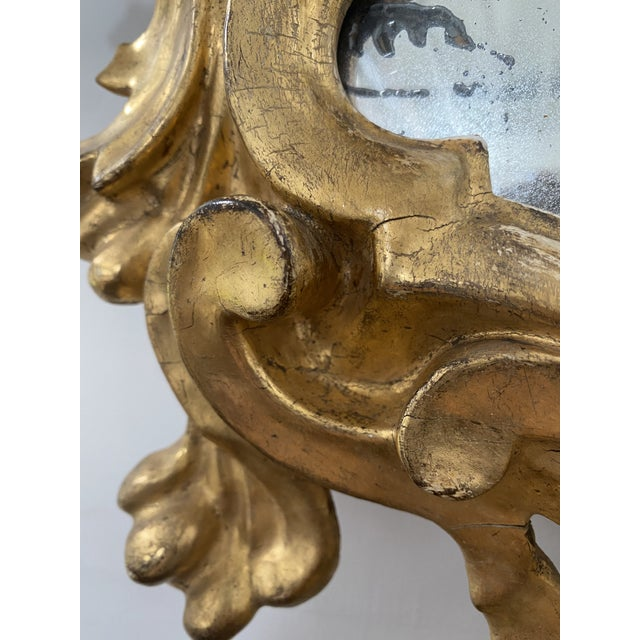 Antique 19th Century Italian Baroque Gilt Mirror For Sale In Washington DC - Image 6 of 13