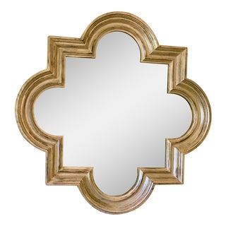 Contemporary Silver Quatrefoil Mirror For Sale