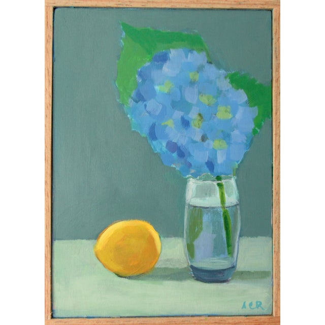 2020s Hydrangea and Lemon by Anne Carrozza Remick For Sale - Image 5 of 5