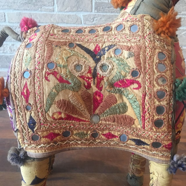 Fabric Vintage Rajasthan Hand Embroidered Indian Horse For Sale - Image 7 of 11